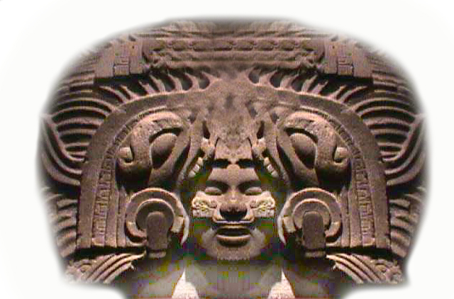Cihuacoatl, ataviada con  un elaborado tocado